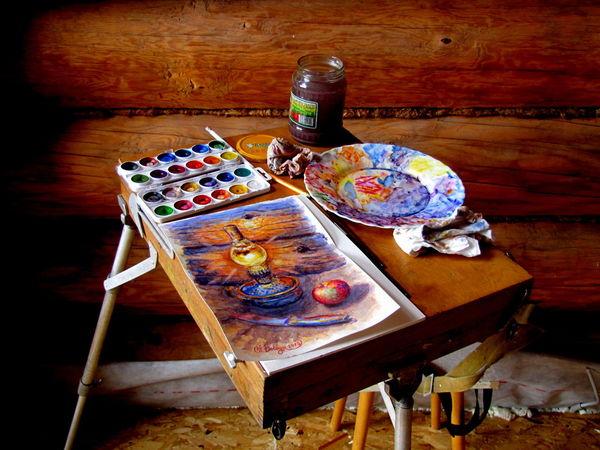 Colours Paintings Acquerello Art Art Studio Grafic Art Graficart Painting Palette Pittura Russian Style