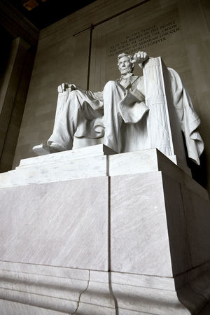 No People Architecture Human Representation Sculpture Art And Craft Statue Day The Past Low Angle View Built Structure Representation Textile Building Exterior History Craft Religion Memorial Creativity Building Abraham Lincoln Abraham Lincoln Statue