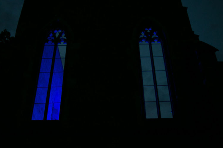 Architecture Blue Blue Night Blue Night Nuremberg Blue Night Sky Built Structure Church Church Window Night Church Windows Close-up Day Indoors  Low Angle View No People Ruin Of A Chapel Ruined Building Ruins_photography Silhouette Window