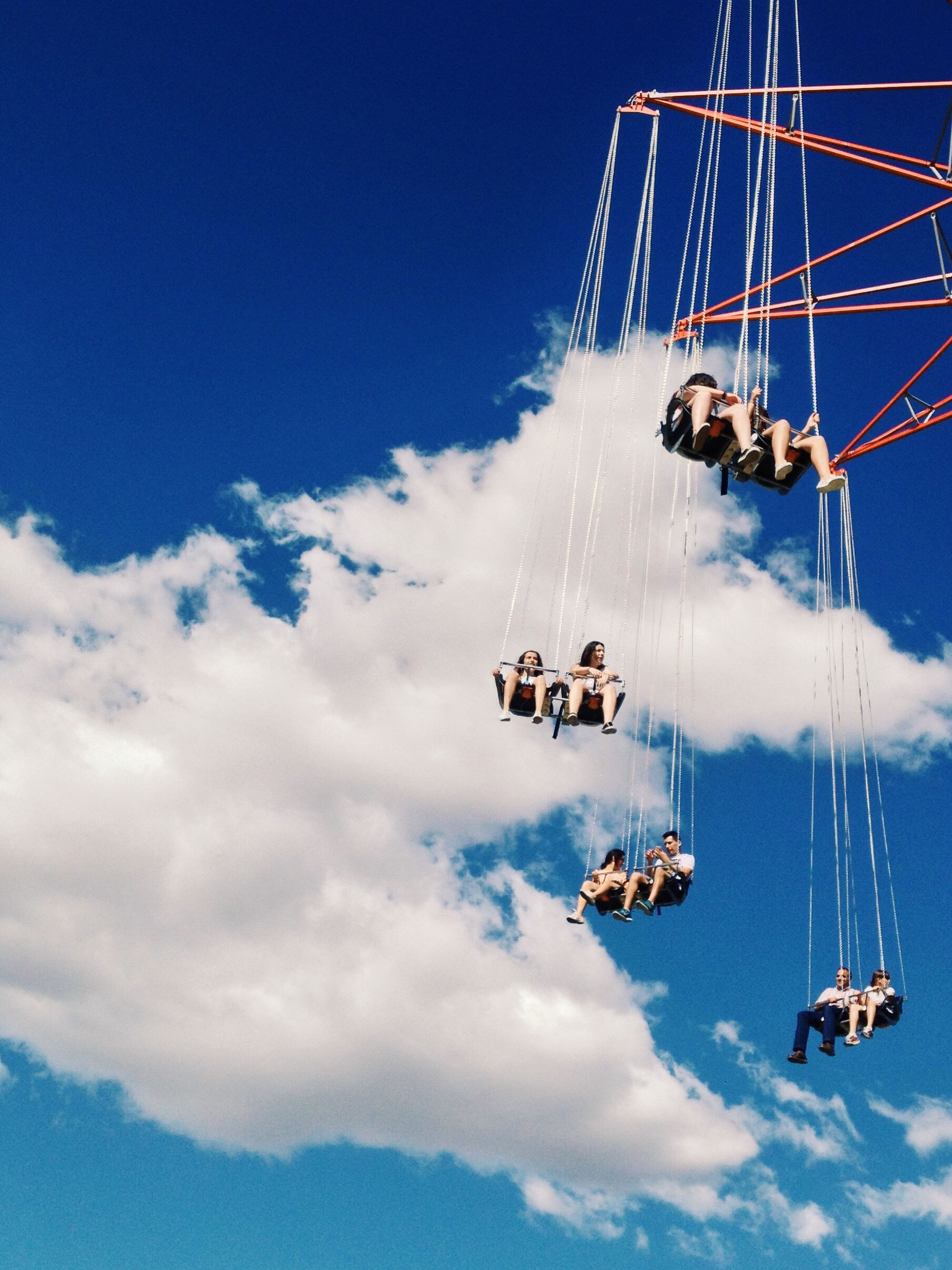 transportation, mode of transport, sky, nautical vessel, low angle view, travel, cloud - sky, mast, leisure activity, crane - construction machinery, outdoors, men, blue, day, boat, cloud, sunlight, lifestyles, nature