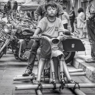 Bike Ic_wheels Own_acc Bw bnw blackandwhite monochrome bw_indonesia kids instakids hdr
