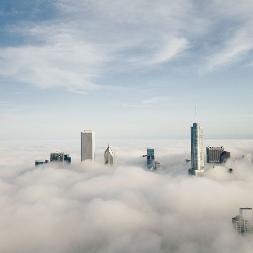 Beyond the clouds The Architect - 2014 EyeEm Awards Fog Architecture Chicago From The Rooftop Market Bestsellers 2017 Fresh On Market 2018