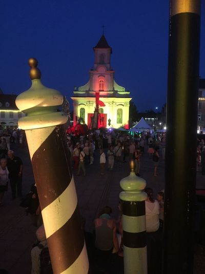 Ludswigsberg Venetian Week-end Architectural Column Architecture Building Exterior Built Structure City Clear Sky Crowd Illuminated Large Group Of People Men Night Outdoors People Place Of Worship Real People Religion Sky Spirituality