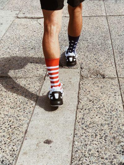 Socks מייניויורק Newyork מייסטריט ShotOnIphone IPhoneX מייאייפון10 Low Section Human Leg Body Part Human Body Part Lifestyles One Person Real People Redefining Menswear