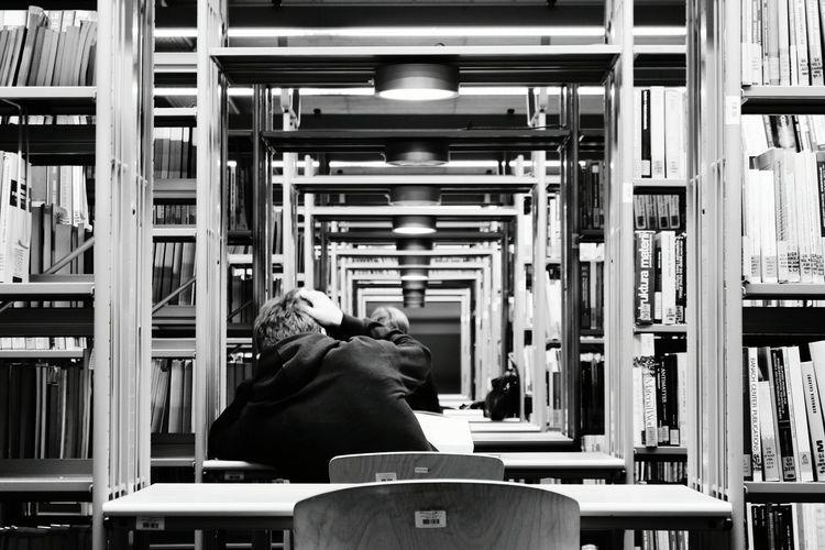 Blackandwhite Leading Lines Monochromatic Warsaw Warszawa  University Poland Library Black & White