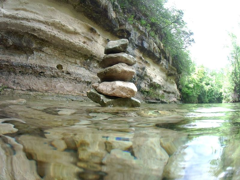 River Meditation Rocks Texas Nature