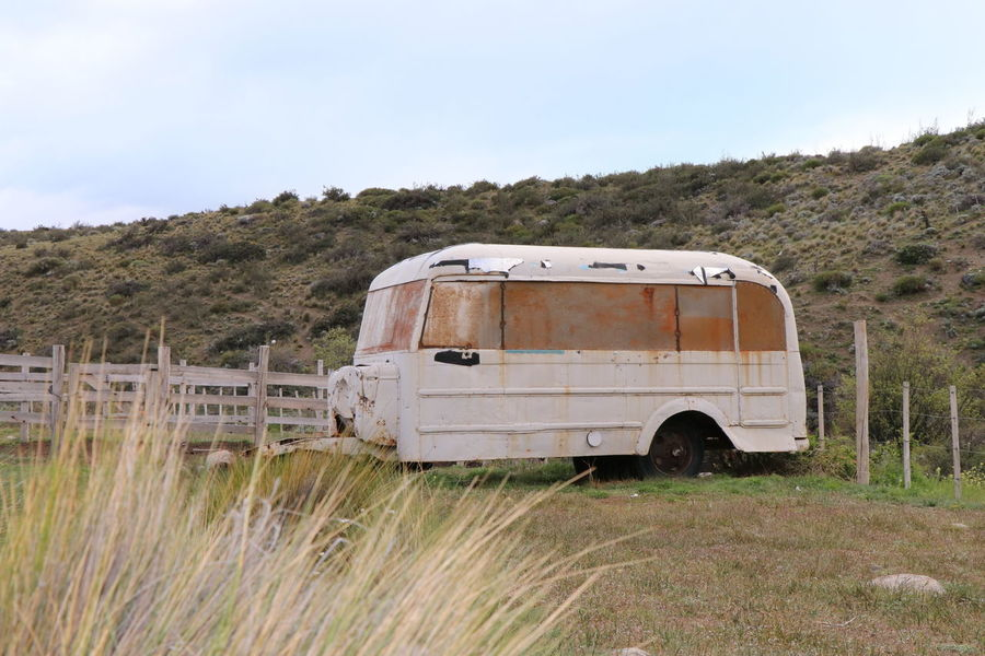 Campo Cars Colectivo Nature Photography Transportation Abandoned Day Grass Landscape Nature No People Old Old Transport Outdoors Sky Transportation