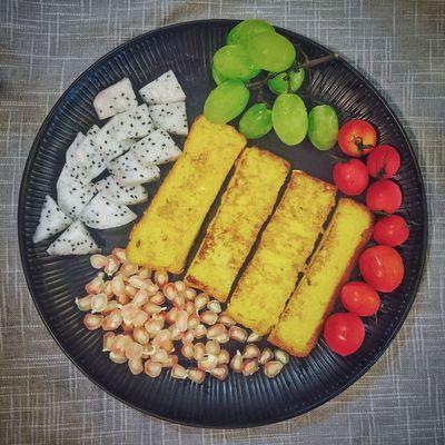【❤️】下雨天和煎蛋面包更配吧!😂 春子私房菜 一个人生活 手机摄影 美食 早餐