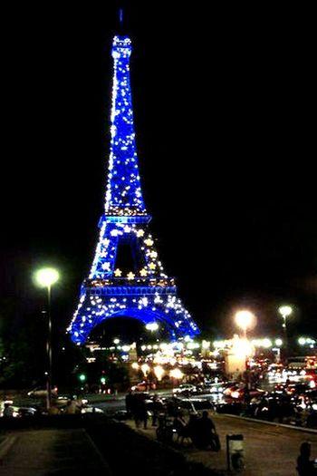 Paris Eiffel Tower European Colors Cities At Night Neighborhood Map