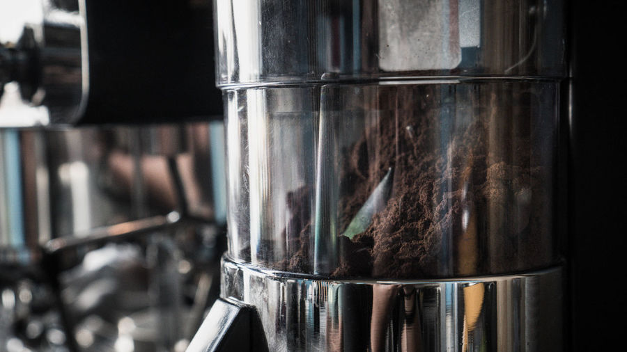 Close-up of coffee in glass