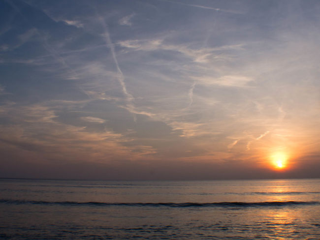 Oleron Beach Beauty In Nature Cloud - Sky Cloud Line Freedom Horizon Horizon Over Water Idyllic Land Motion Nature No People Outdoors Scenics - Nature Sea Sky Sun Sunset Tranquil Scene Tranquility Water
