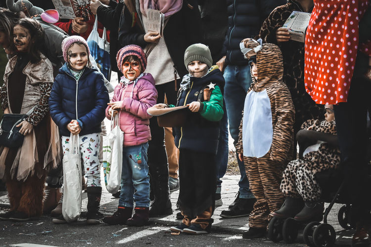 Fasching 2019 EyeEm Best Edits Children Photography Childhood Festival EyeEmBestPics EyeEm Best Shots EyeEm Selects Photography Canon Streetphotography Child Warm Clothing Togetherness Girls Portrait Friendship Standing Females Men Boys Children