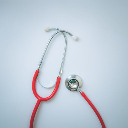 Cable Care Close-up Day Doctor  Gray Background Healthcare And Medicine Herbal Medicine Hospital Illness Indoors  Medical Equipment Medical Exam Medical Research Medical Supplies Medicine People Pulse Trace Red Research Science Stethoscope  Technology White Background