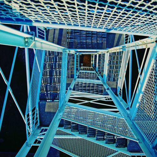 Viewing Platform Stages Built Structure Architecture Pattern No People Indoors  Full Frame Building Metal Day Modern Architectural Feature