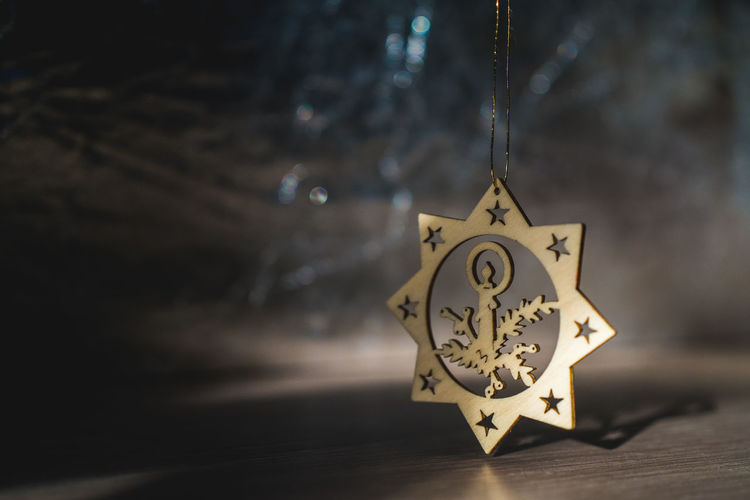 Candle Christmas Christmas Decoration Christmas Decorations Close-up Hanging Star