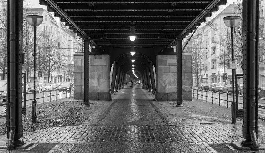 Architecture B&w Berlin Photography Berliner Ansichten Black And White Built Structure Capture Berlin City Life Day Illuminated Indoors  Metal Mother One Person Prenzlauer Berg Prenzlauerberg Rainy The Way Forward Urban Exploration Viaduct Viadukt