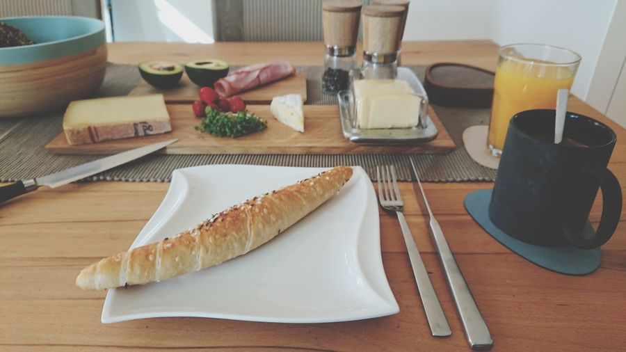 Breakfast EyeEm Selects Table High Angle View Cutting Board Close-up Food And Drink