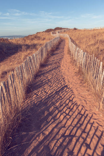 Warren dunes Dunes Path Arid Climate Beauty In Nature Day Dunescape Journey Landscape Nature No People Outdoors Sand Sand Dune Scenics Sky Tranquil Scene Tranquility