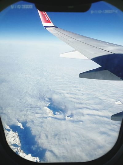 Aerial View Day No People Outdoors Flying Transportation Air Vehicle Aircraft Wing Airplane Landscape Cold Temperature Snow Nature Sky