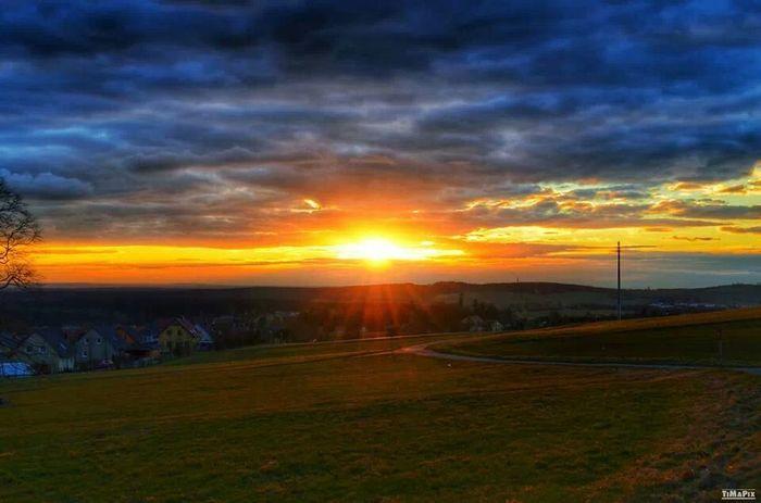 HDR Sunset Saxony Nature