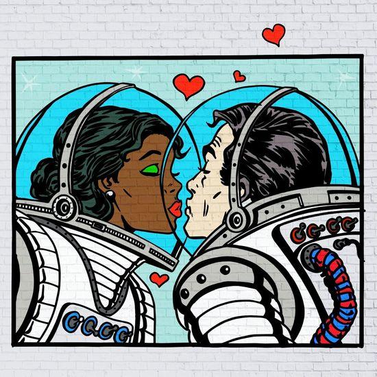 Desenho❤ Astronaut Love