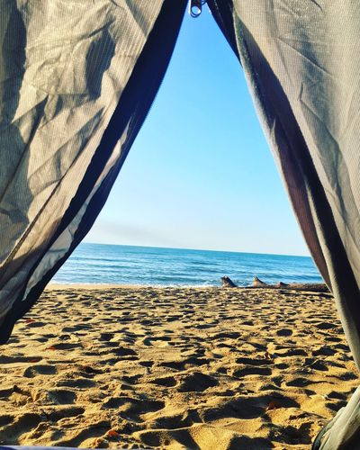 Good Morning ☀️😃 Goodmorning View Backpacking Zipper Missionbeach Shore Goals Camping Australia Tent Water Sea Sky Beach Horizon Over Water Land Horizon Scenics - Nature Nature Tranquil Scene Tranquility Sand Sunlight Day Beauty In Nature Blue No People Clear Sky Outdoors