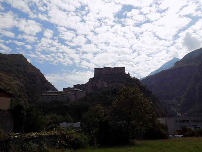 Aosta Forte Di Bard Architecture Bard Beauty In Nature Cloud - Sky Day Landscape Mountain Nature No People Outdoors Sky Tree Valle D'aostra