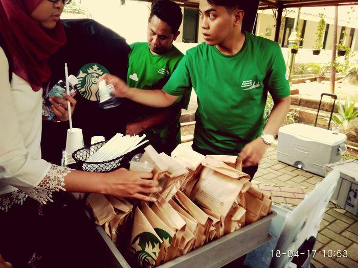 Starbucks Starbucks Jakarta Indonesia Gmos Global Month Of Service April 2017 Museum Tekstil