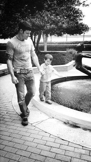 Black & White Daddy And Son