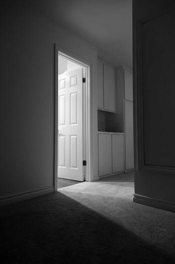 Open door of house