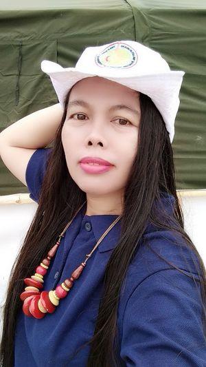 Hat Long Hair Portrait Young Women Headshot Beautiful Woman Front View Close-up Red Lipstick Wearing Human Lips