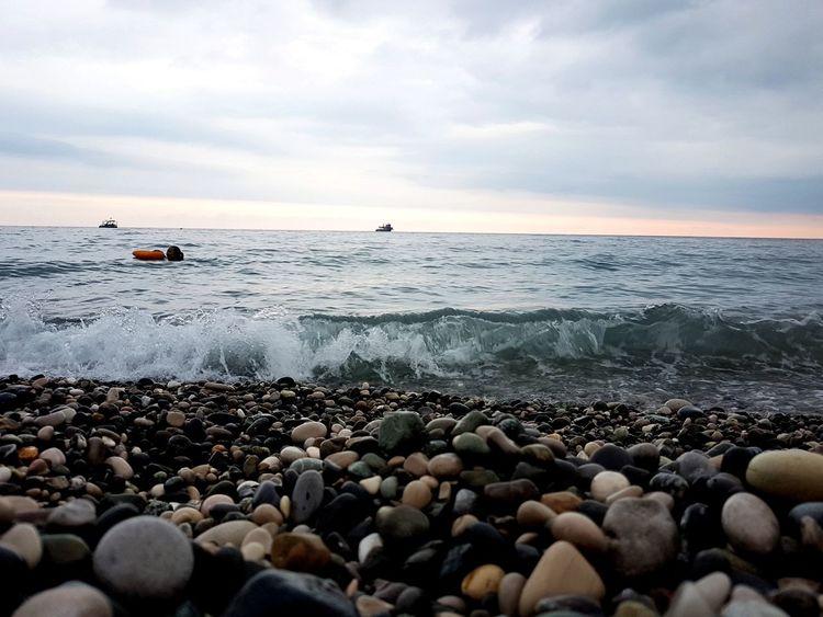 море💓 EyeEm Selects Pebble Beach Water Sea Beach Wave Sunset Nautical Vessel Pebble Low Tide Sand Seascape Horizon Over Water Ocean Calm Groyne Tide Rocky Coastline Coastal Feature Coastline Coast Shore Rushing