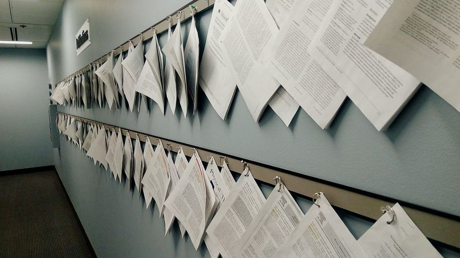 The Historic Publication Wall. Publication Journal Success Hematology Knowledge Research Article EyeEm Selects Paper Close-up Architecture Scientist EyeEmNewHere