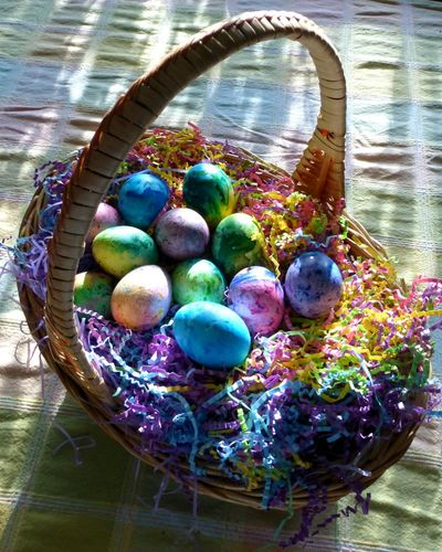 Easter basket. Easterbasket Easter Basket Colorful Egg Arts Eggporn Eggart Confetti EASTERcelebration Easter Eggs Arts And Crafts Brightcolors Homemade Easter Ready