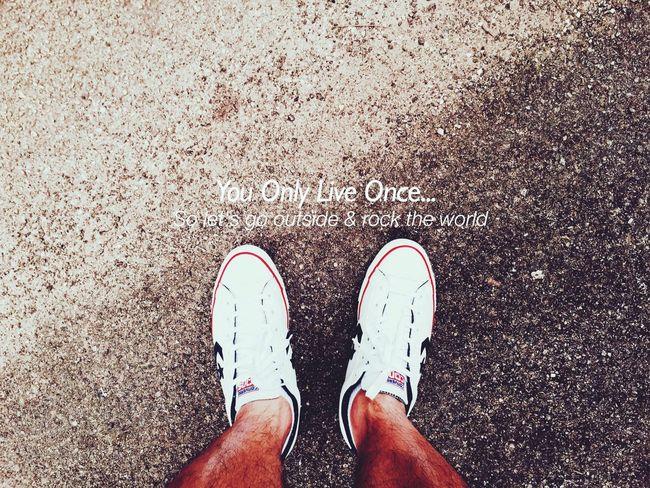 :YOLO: Youonlyliveonce Yolo YOLO ✌ Motivation Quoteoftheday Colorphotography Bestoftheday Converse Shoe