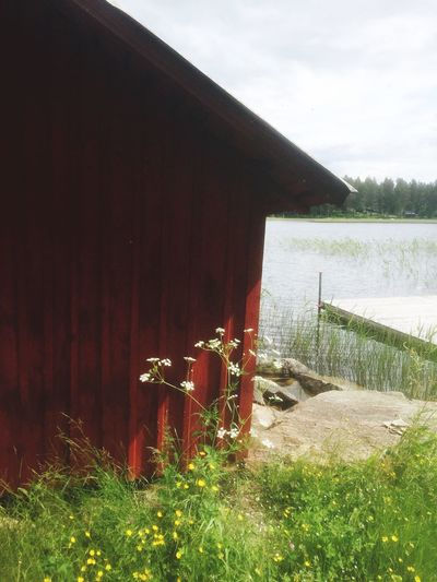 Nature Day No People Water Outdoors Built Structure Grass Architecture Sky Dalarna Summer Boathouse