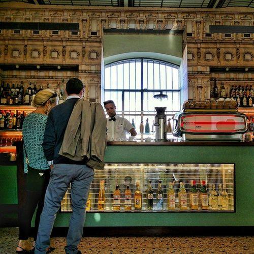 The bar at Bar Luce. Designed by Wes Anderson. Barluce FondazionePrada Wesanderson Milan