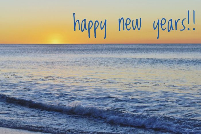 See you later 2017, bring on 2018 Sea Sunset Horizon Over Water Nature Water Scenics Beauty In Nature Beach Tranquility Outdoors Tranquil Scene No People Sky Multi Colored Wave Day