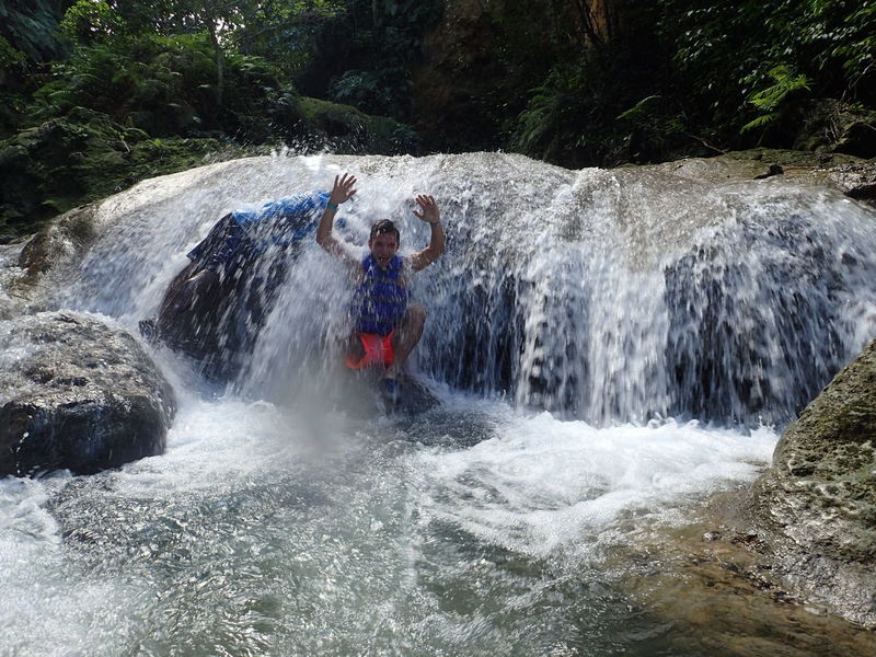 Waterfall Bluehole Ocho Rios Jamaica Fun Adventure