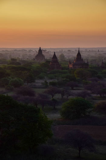 Sunset in Bagan Bagan Travel Travel Photography Temple Beauty Sunset Place Of Worship Arrival Old Ruin Religion Business Finance And Industry Pagoda History Ancient Civilization Ancient History