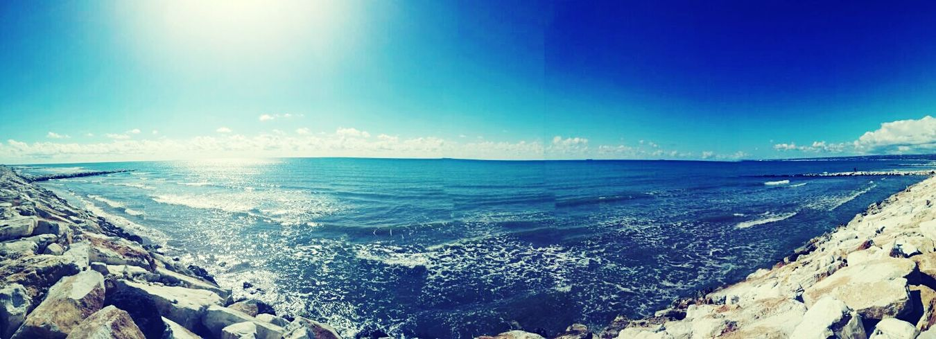 Marina di Marza Ispica Sea Horizon Over Water Beach Sky Water Blue Nature Beauty In Nature Scenics Outdoors Wave No People Day First Eyeem Photo