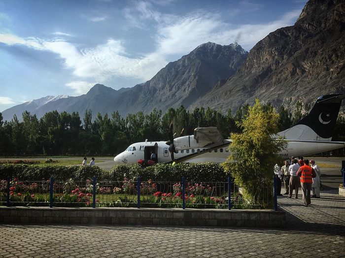 Gilgit Airport Gilgit Ready For Take Off Flying Airport Airport Waiting Airplane ATR 42 Pia  Excited Lift Off