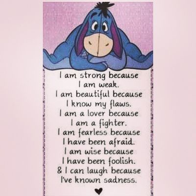 Inspiration Dailyquote Believe Belong strong lover fighter brave independent foolish wise laughter woman eeyore winniethepooh mystory114