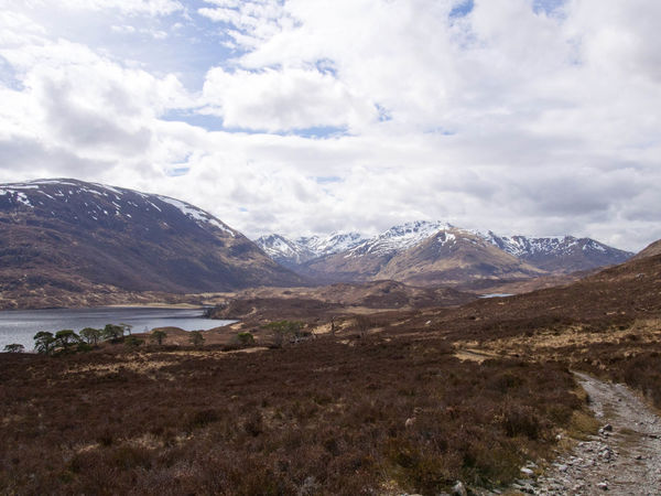 Glen Affric Loch Affric Scotland Walk Beauty In Nature Cloud - Sky Clouds And Sky Day Environment Lake Landscape Mountain Mountain Peak Mountain Range Mountains Nature No People Outdoors Range Scenery Scenics - Nature Sky Snow Covered Water Wilderness