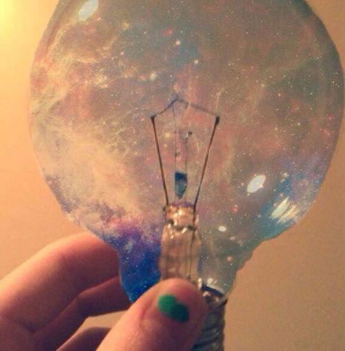Galaxy Lightbulb Hipstamatic Tumblr First Eyeem Photo