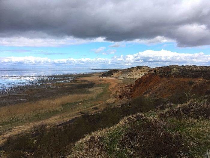 Beauty In Nature Landscape Cloud - Sky No People Morsum-Kliff Sylt, Germany