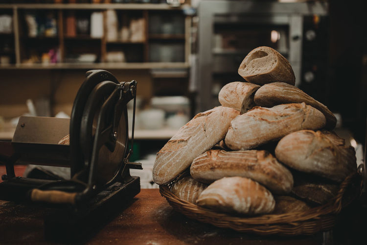 bread Baked Bakery Bread Food Food And Drink Healthy Eating Indoors  Loaf Of Bread No People Shelf Whole Wheat Wholegrain
