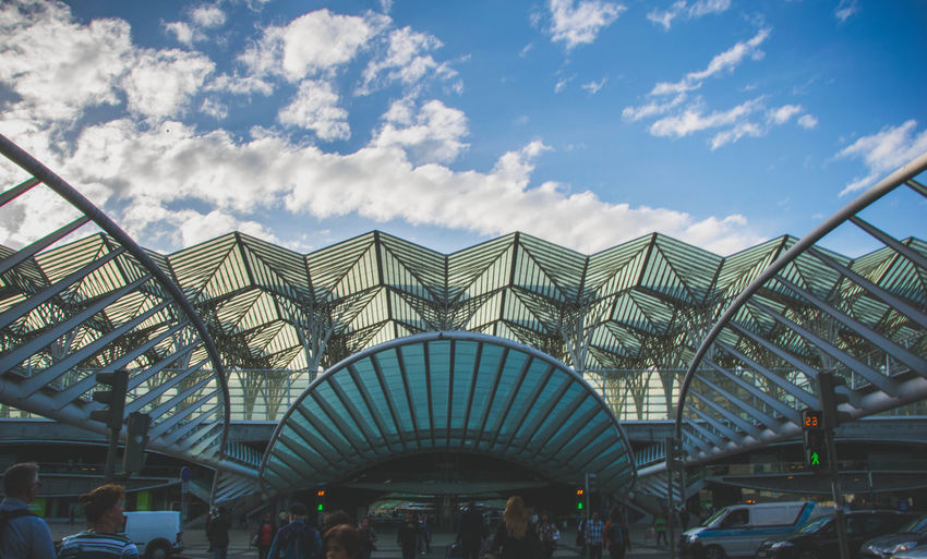 Architectural Feature Architecture Architecture_collection Design Detail Lisboa Lisbon LLsboa Oriente Lookup Modern Modern Architecture Moscavide Oriente Station Portugal Roof Sky Sky And Clouds