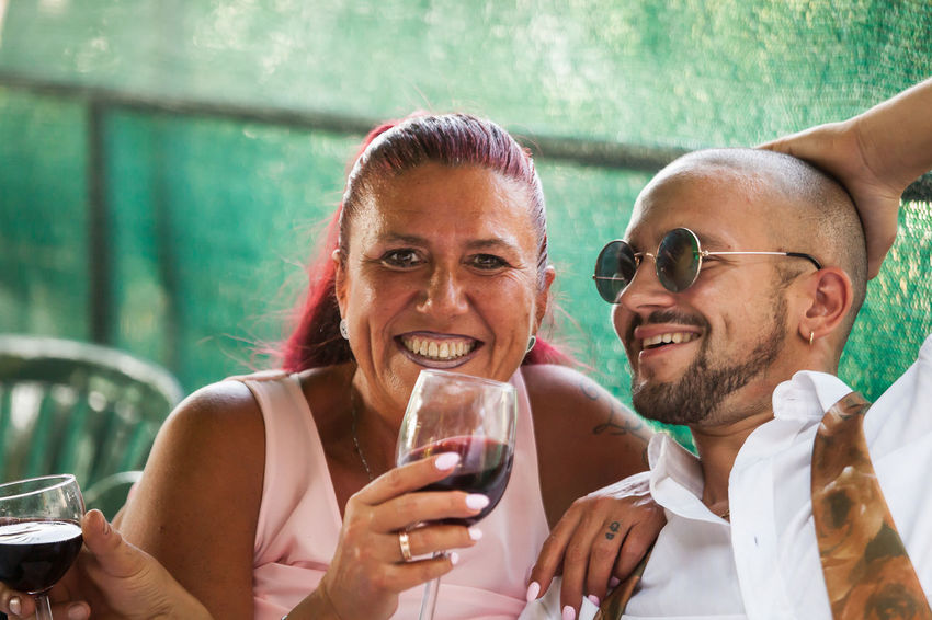 Weddingparty Friends The Portraitist - 2018 EyeEm Awards Adult Alcohol Drink Drinking Emotion Food And Drink Front View Glass Happiness Headshot Men Portrait Positive Emotion Refreshment Smiling Togetherness Two People Women