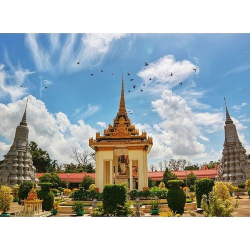 At the Royal Palace. Phnom Penh, Cambodia. Attractions Travel Clouds Architecture instagram igrecommend igers photography photoofthenight